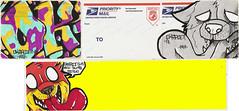 Another small Sticker set (OKARIEN) Tags: street art graffiti paint dumb stickers usps graff markers dingo thermals slaps blanks breadbox collabs okarien