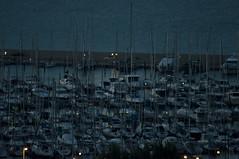 porto turistico 2/2 - Ancona (Michele d'Ancona) Tags: sunset italy night port boat barca italia tramonto mare porto sailboats notturna ancon notte marche ancona barcheavela portoturistico ankon turistport