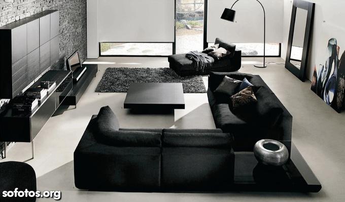 sala de estar decorada moderna