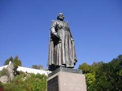 Statue of Jacques Marquette, Mackinac Island (aeverett55) Tags: michigan upperpeninsula mackinacisland straitsofmackinac jacquesmarquette