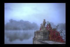 Over there (Kemoauc) Tags: morning fog nikon foggy hdr ludwigsburg jrg topaz monrepos photomatix d700 kemoauc sentko