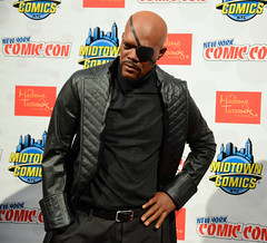 NYCC 2013: Madame Tussaud's Nick Fury Wax Figure (Marvel Entertainment) Tags: comics marvel sheild nycc newyorkcomiccon