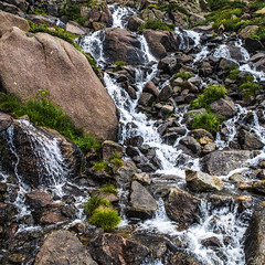 Weminuche waterfall (Aaron Spong Fine Art) Tags: mountain mountains rockies flow waterfall rocks rocky alpine waterfalls flowing tundra moutnain weminuche