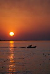 June Kuwait Sunset (Azarbhaijaan) Tags: blue red sea sun boat side kuwait kuwaitcity souksharq baghdadi azharmunir drpanga