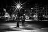 Le promeneur de la place Dauphine (RVBO) Tags: paris nb nuit
