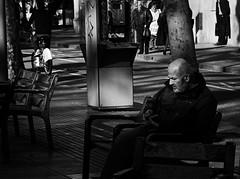 Lonely (Eduardo Chibs) Tags: barcelona street blackandwhite bw blancoynegro nikon candid bcn streetphotography ramblas rambla candidshot