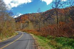 Beautiful Ridge Road (thoeflich) Tags: autumn fall fallcolors autumnleaves autumncolors falllandscape autumnlandscape powhatanpoint powhatanpointwildlifemanagementarea beautifulridgeroad vision:mountain=062 vision:outdoor=0945 vision:sky=0629