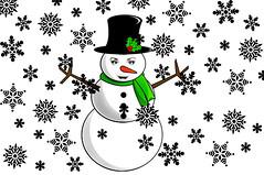 clipart snowflood (Fld) Tags: snowflakes snowman flood clipart 365 snowbabe floodie