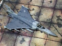 1:72 Northrop Grumman-IAI F-24A Tigerhawk (a.k.a.  / Namer), s/n 14-0183 of 318th FIS, United States Air force (USAF); McChord AFB, Tacoma (WA); 2014 (whif/kitbashing/tribute work) (dizzyfugu) Tags: grey freedom washington fighter technology force iai aircraft aviation air united gray wing replacement next f16 tacoma states usaf generation active 172 interceptor export fictional whatif grumman f24 northrop x29 f20 iaf namer x53 whif kitbashing tigerii f24a f24i