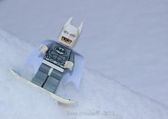 Snowman? No I'm Batman (Brian.Neudorff) Tags: winter snow lego legos batman minifigure minifigures