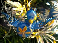 a bird in a tree (muffett68 ☺ heidi ☺) Tags: christmas ornament bluebird 82 ansh scavenger11 abirdinatree 114picsin2014 awinterorsummermacro
