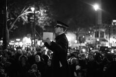 Salvation Army conductor (Marc Gascoigne) Tags: street uk england people blackandwhite bw music london monochrome musicians night salvationarmy crowd performance band trafalgarsquare conductor