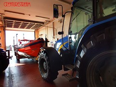 RNLI Littlehamptons Blue Peter 1 B Class Atlantic 75 Lifeboat Attached To New Holland T5040 Tractor West Sussex UK (CreatureStream) Tags: new uk blue b tractor west holland sussex 1 class atlantic peter lifeboat to 75 attached rnli t5040 littlehamptons