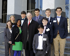 02-27-2014 House and Senate Pages with Governor Bentley