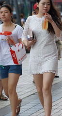 white dress and strong (2) (Steven pan 8) Tags: girls sexy girl beautiful beauty asian pretty legs skirt hotgirls pantyhose asiangirl hotgirl chinesegirl asianbeauty