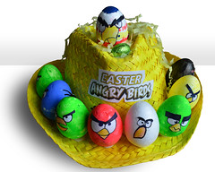 Liam's Angry Birds Easter Hat (Matt Burke) Tags: school hat birds easter creative liam angry eggs bonnet
