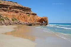 Venus Bay (john white photos) Tags: ocean sea beach beauty rock coast waves oz australia bluesky formation coastal remote aussie redrock southaustralia touristattraction pristine venusbay royaltyfree alamy eyrepeninsula needleeye