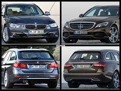 BMW 3 Series Touring vs. 2014 Mercedes-Benz C-Class T-Model (vordermanmotorwerks) Tags: cloud car blog fort wayne repair motor import radix vorderman werks
