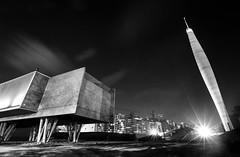 THE ELEPHANT (Rober1000x) Tags: park longexposure lighthouse argentina museum architecture modern night arquitectura downtown architect cordoba museo modernarchitecture parquesarmiento 2013 museocaraffa