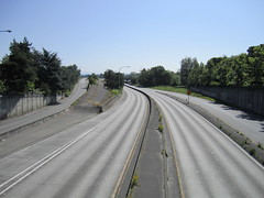 WA-520 eastbound from 24th Avenue E (SounderBruce) Tags: seattle construction freeway wa520 sr520 emptyfreeway