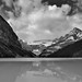 Lake Louise and a View to the Continental Divide (Black & White)