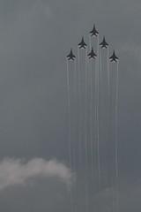 [pyramid] ( -  ) Tags: summer sky festival vertical pyramid russia aircraft traces silhouettes perm six jetfighter swifts avia mig29 2015  sokol     fulcrum   sixfold    strizhi   29      aviabase  aviabatics  krylyaparmy parmawings