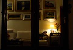 Inside the mirror (Francesco dP) Tags: pictures shadow brown black girl point mirror other view side ombra calm pace divano calma luce dentro lampada specchio immaginare notturno quadri riflesso esterno oscurit aldil mostrare riflettere fantasticare
