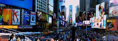 Times Square (smartin.) Tags: city nyc newyorkcity usa ny newyork building skyscraper lights us cityscape unitedstates manhattan unitedstatesofamerica crowd broadway yellowcab tourist panoramic midtown timessquare highrise billboards eastcoast 42ndstreet yellowtaxi