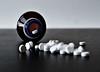 pills (Sophia Cohen) Tags: life white black glass 50mm still nikon indoor medicine desaturated pills f18 d3100