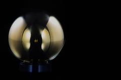 Shiny Metal Orb (KellarW) Tags: memable macro memeable meme shiny reflectivemetal ball mystical shinymetal orb brass brassball metal