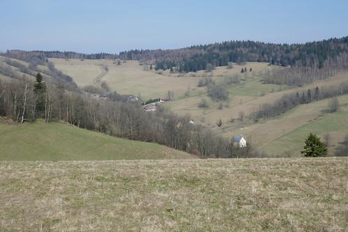 Przełęcz Lądecka z zejścia od Chłopskiej Kopy