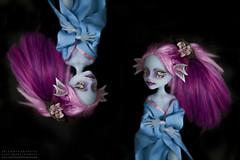 n i s h i k i g o i (teatimealchemist) Tags: kiyomi haunterly ooak doll monster high custom mattel repaint