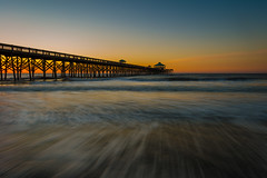 Pier Shilloette (Explored 3/13/17) (APGougePhotography) Tags: southcarolina pier sun sunrise beach water flow south carolina folly follybeach charleston color longexposure long exposure le waves nikon d800 nikond800 adobe adobelightroom lightroom