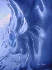 Waves of Ice - Matanuska Glacier, Alaska (kweaver2) Tags: kathyweaver kdxweaver nature matanuska glacier alaska landscape ice winter snow blue cave