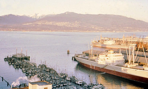 Port of Vancouver looking East 1961