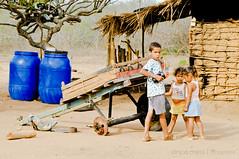 Crianas 4 (Drica Melo - DM) Tags: sol brasil casa interior seca crianas meninas seco menino pernambuco barris carroa quente nordeste calor pobreza serto caatinga tonis casadetaipa