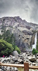Lower Yosemite Falls (sjrankin) Tags: california panorama yosemitefalls northerncalifornia edited yosemite yosemitenationalpark hdr lowerfalls loweryosemitefalls yosemitecreek 6june2013