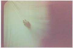 Hand silhouette June 14 2013 (Andrew Holzschuh) Tags: pink shadow green film silhouette yellow fog 35mm canon vintage warm kodak cream ethereal canonft