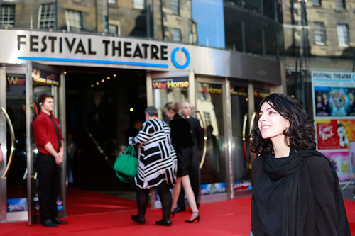 Samira Makhmalbaf at the European premiere of Breathe In at Festival Theatre