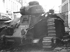 Destroyed French Renault B1 tank