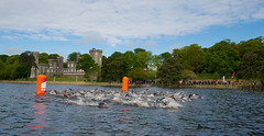 Swimming at Lough Cutra Castle Tri