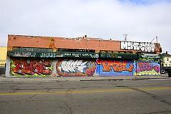 DIRT, BORG, TRBL, BEGR, MIKE, ? (STILSAYN) Tags: california graffiti oakland bay east dirt area 2013