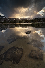 It's a Beautiful Day in the Neighborhood (Joshua Cripps) Tags: sunset thunderstorm tarn highsierra anseladamswilderness sierranevadamountains easternsierra tokina1224mm islandpass rodgerspeak leegndfilters nikond7000 acratechballhead
