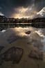 It's a Beautiful Day in the Neighborhood (Joshua Cripps) Tags: sunset thunderstorm tarn highsierra anseladamswilderness sierranevadamountains easternsierra tokina1224mm islandpass rodgerspeak leegndfilters nikond7000 acratechballhead