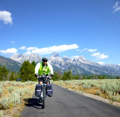 Tetons Tour 2013 (Doug Goodenough) Tags: tetons pedals spokes tour bicycle bike ride wyoming idaho 2013 gravel grinder packing panniers mountains jen scott steve july august summer drg53113p drg53113ptetons camping scenic drg531