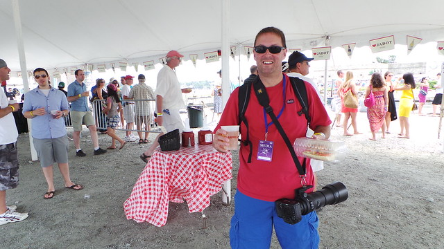 Jeff Cutler, beer, PoBoy and a big lens at Newport Jazz Festival 2013