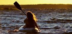 Evening Kayak with Jess (tracybarton68) Tags: sunset portrait lake kayak paddle jess