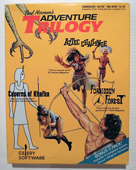 Paul Norman's Adventure Trilogy (dustlayer) Tags: ntsc disk c64 frontcover sealed commodorec64