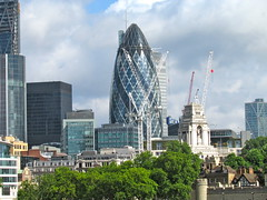The Gherkin (Photography Lately) Tags: new city building london architecture great structure unusual iconic gherkin addition standout