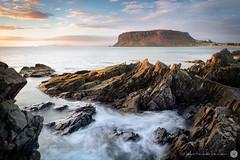 The Nut (Luke Tscharke) Tags: ocean morning sunrise canon geotagged dawn movement rocks northwest au australia stanley tasmania 24mm tas tassie volcanic tse thenut 24mmtiltshift godfreysbeach 5d3 5dmarkiii geo:lat=4075000522854918 geo:lon=14529700845479965